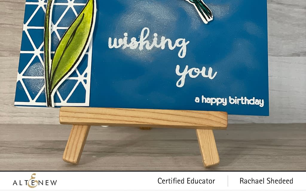 Wednesday Watercolor- A Happy Birthday Hummingbird